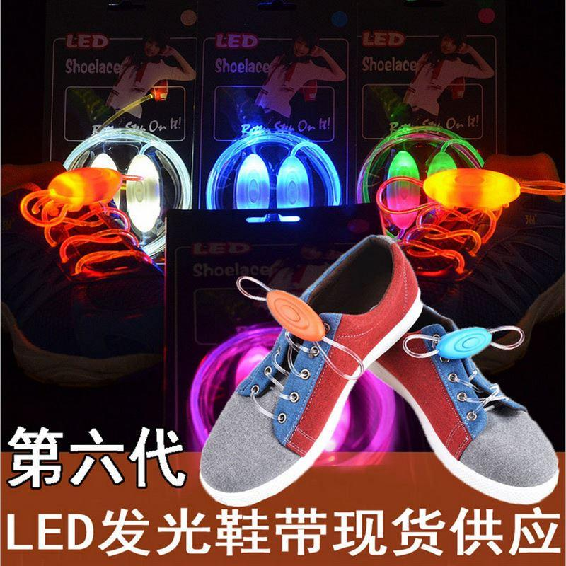 Multicolors Light Up LED Shoelaces New Fashion Flash Shoes Laces Disco Party Glowing Night Shoes Strings