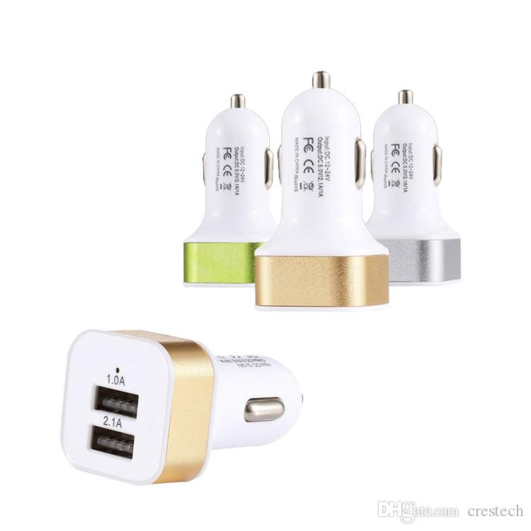 Kfz-Ladegerät Dual USB-Anschlüsse 2.1A Zigaretten Kfz-Ladegeräte Auto Power Adapter Ladegeräte für ip5 / 6/7 Android-Handy GPS MP3-PC