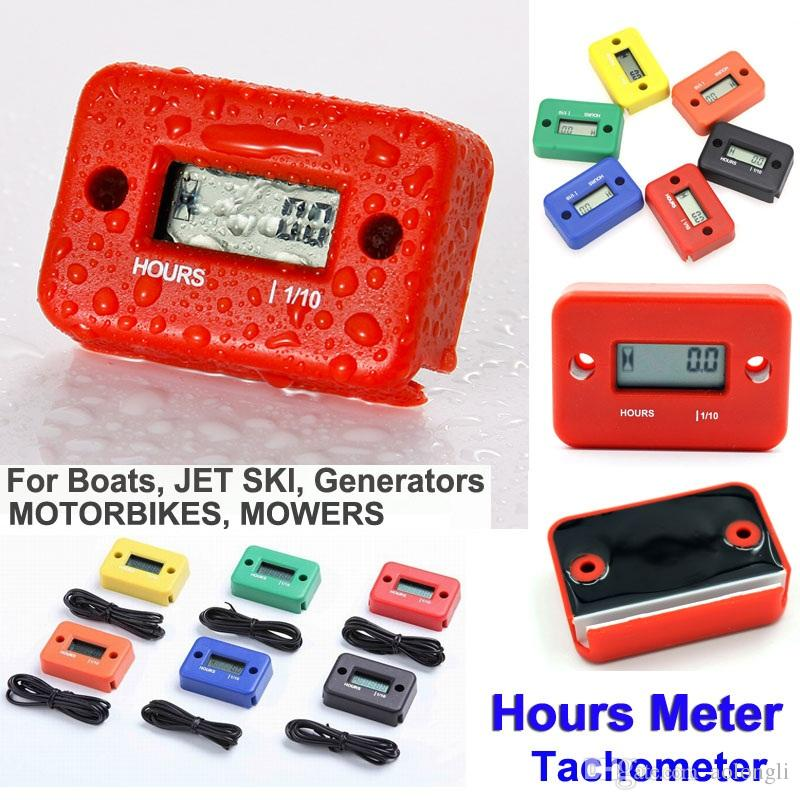 New Hour Meter Tachimetro Digital LCD ATV Moto Generatore Bike Impermeabile Ore Meter per Dirt Quad Bike jet ski boat Snowmobile