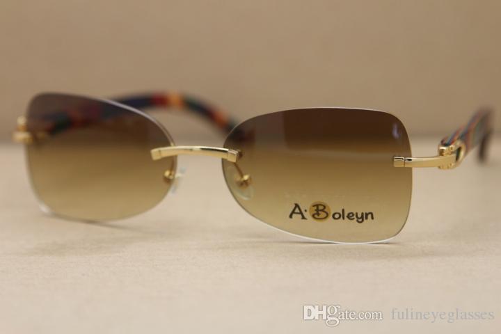 Wholesale Decor Wood frame men T8100864 Sunglasses gold wood glasses Hot Free Shipping frames Frame Size:59-18-135 mm