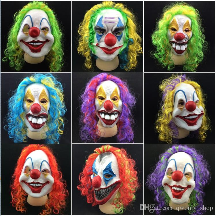 Party Dekoration Party Maske Halloween Scary Party Maske Latex Lustiger Clown Wry Gesicht Scary Maske Kostenloser Versand