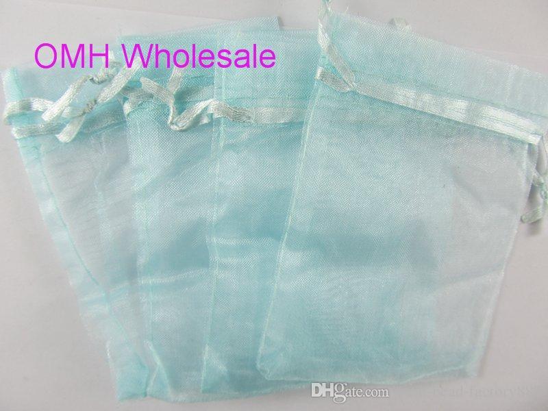 Темно-синий розовый зеленый 17x23cm хороший китайский вуаль Рождественский свадебный подарок мешок органзы сумки Jewlery подарочный чехол BZ11-2
