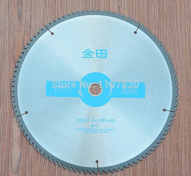 Freies verschiffen Professionelle qualität 355 * 30 / 25,4 * 3,2 * 100 T TCG zähne TCT sägeblatt nicht eisen metall aluminium kupfer schneidklingen