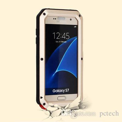 Samsung S7 Borda Heavy Duty metal Caso Armadura Defender Tampa à prova de choque Dirtyproof impermeável cobrindo todo o corpo para Goophone I8 I7 Além disso I6 Plu