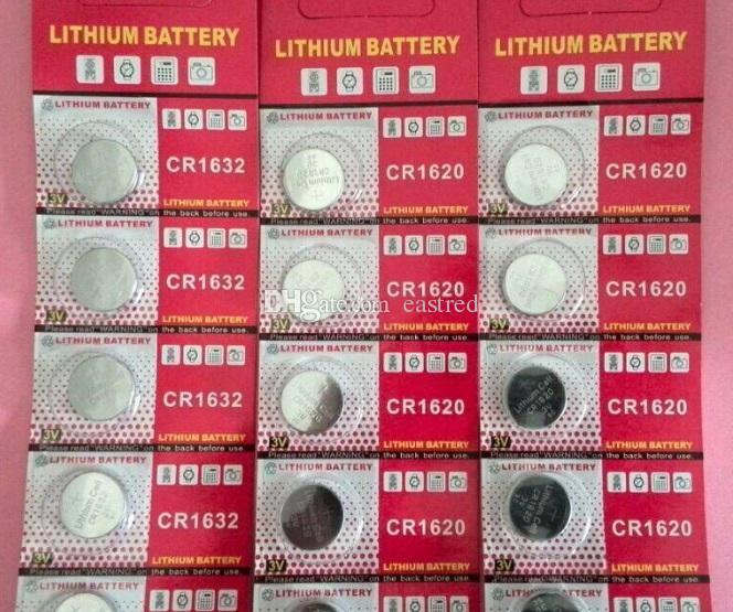 CR1632 3V Lithium-Knopfzelle, Knopfzellen 200Blister Karte / Lot (5 Stück pro Blister)