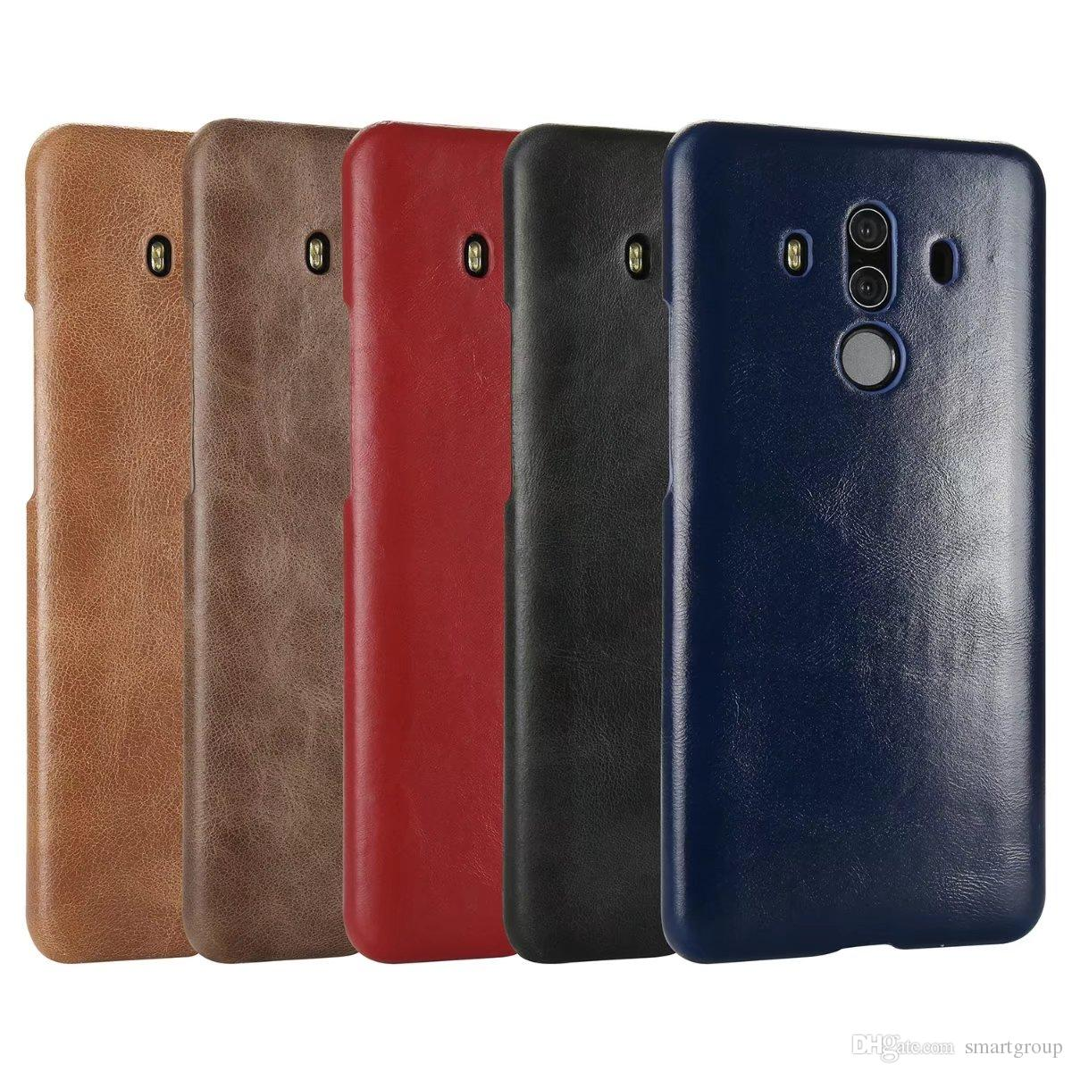 a basso prezzo 888b4 cb040 For Huawei Mate 10 Pro Case Ultra Thin Back Cover Luxury Original Flip  Genuine Leather Case For Huawei Ascend Mate 10 Pro Glitter Cell Phone Cases  ...
