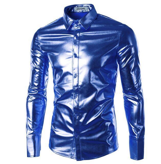 2016 New Hot vente plus de marée! Fashion Club Men's Clothing Chemise décontractée de scène américaine à manches longues et tendance tout-aller Tops Soft Gloss