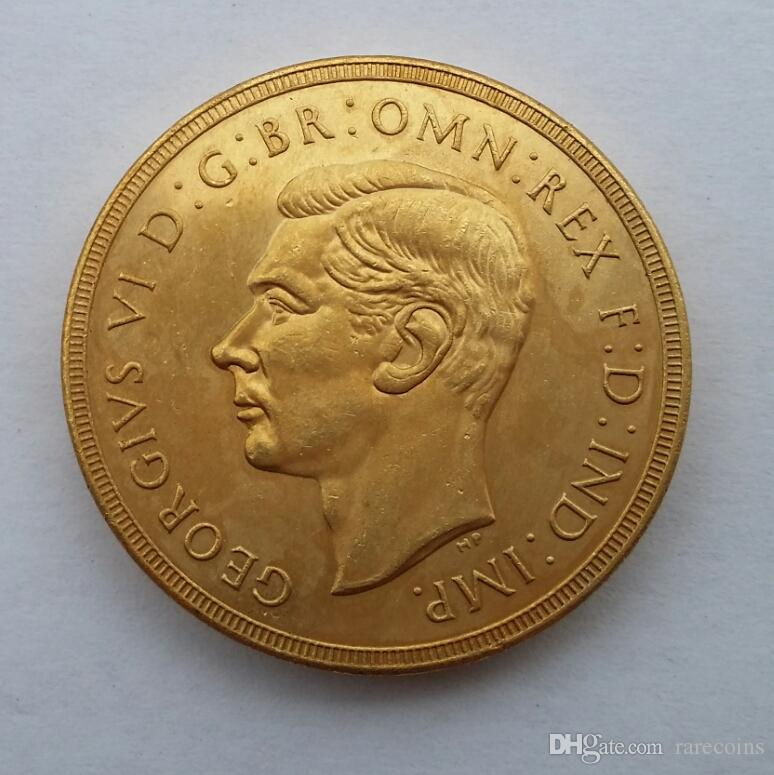 RARE 1937 GRANDE-BRETAGNE KING GEORGE VI PREUVE D'OR 2 Pounds COIN Promotion bon marché prix usine belle maison Accessoires Silver Coins