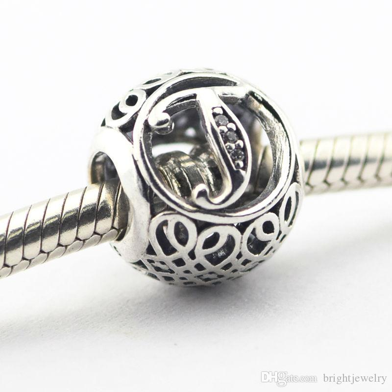 2021 Fits Pandora Charms Bracelet 100 925 Silver Letter Charm Alphabet T Vintage Beads Women Diy Jewelry Wholesale From Brightjewelry 13 54 Dhgate Com