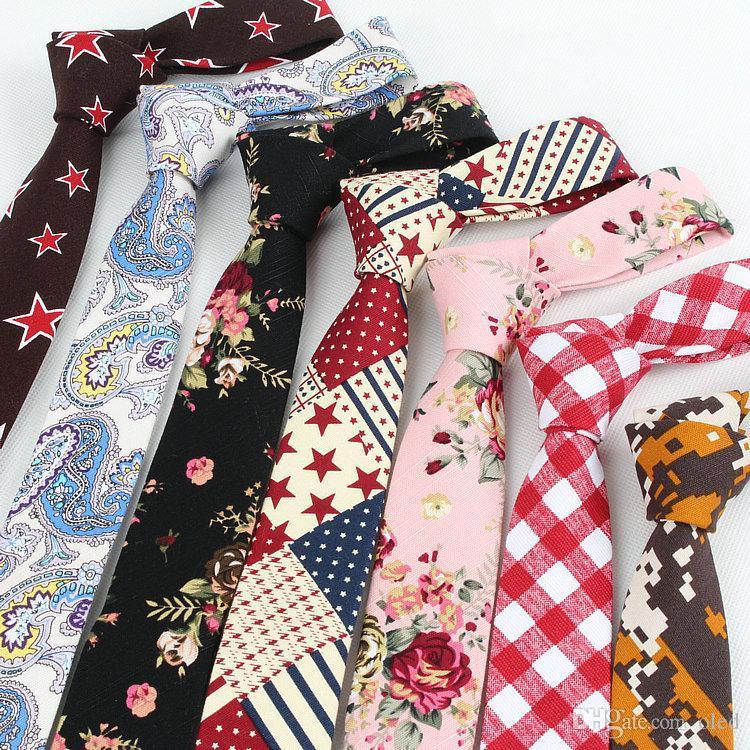 Lençóis de linho de algodão 145 * 5 cm floral gravata do pescoço 43 Cores Gravata de homens gravata profissional para o Dia dos Pais Laço dos homens de negócios
