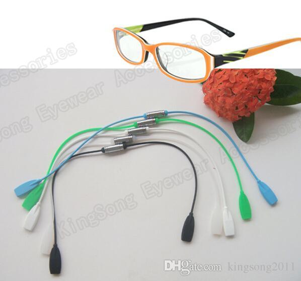 2 pçs / lote retentor de óculos de retentor de óculos de silicone preto magnético retentor de óculos suporte de óculos cadeia de eyewear cordão de óculos