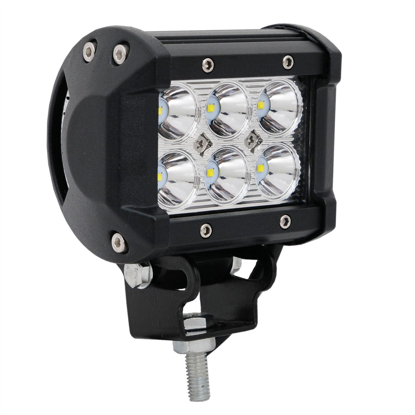 1 Piece high intensity 12v 24v DC automobile 4inch 18w waterproof IP67 offroad led light bar