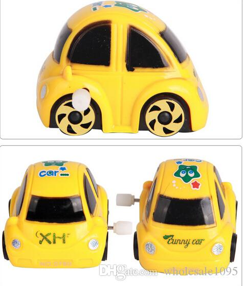 wind up toys yellow red plastic wind up clockwork design racing car toy for