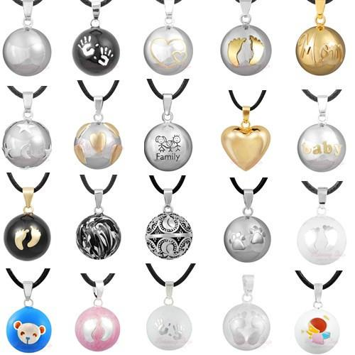 Wholesale- 1PC Pendant Necklace Pregnancy Chime Ball Harmony Bola Pendant Necklace Wishing Ball Pregnant Women Gift Baby Angel Caller