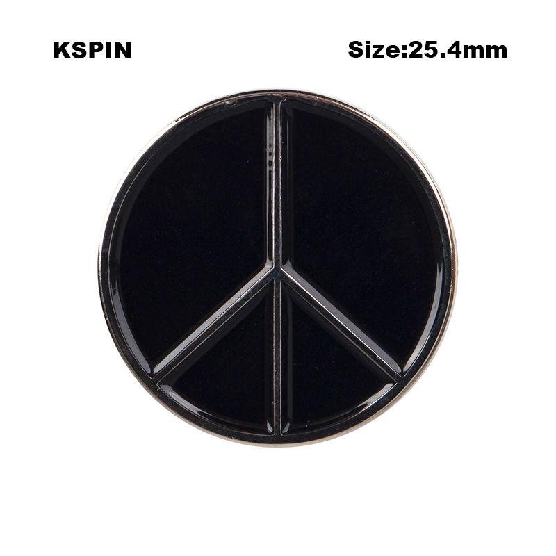 Distintivi 10PCS del distintivo del distintivo del metallo di pace che spedice liberamente XY0098
