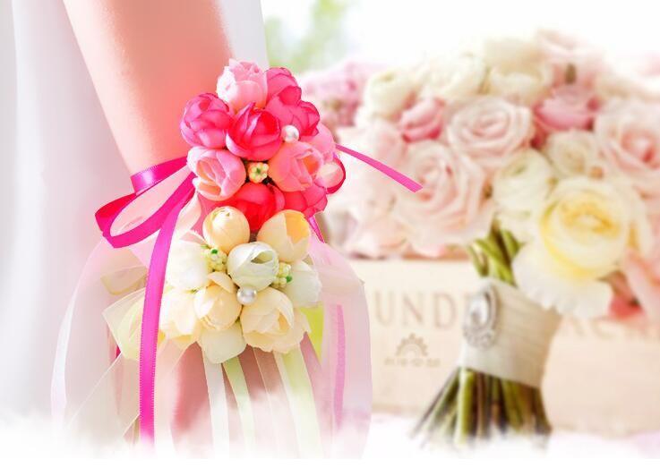 Manufacturers Wholesale Wedding Supplies Bridal Wrist Flower