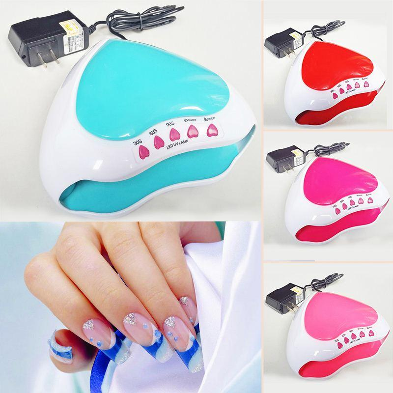 Free Shipping Heart Shape 5W USB/Battery/Adapter Led UV Light Curing Lamp mini Nail Gel Drying Polish Manicure Tools Fast Dryer