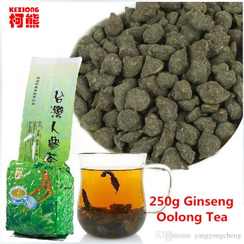 250G الشهيرة الرعاية الصحية تايوان الجينسنغ الصيني الاسود الشاي الصينية قسط الطبيعية الجينسنغ الشاي الطازجة ربيع جديد الشاي الأخضر العضوي