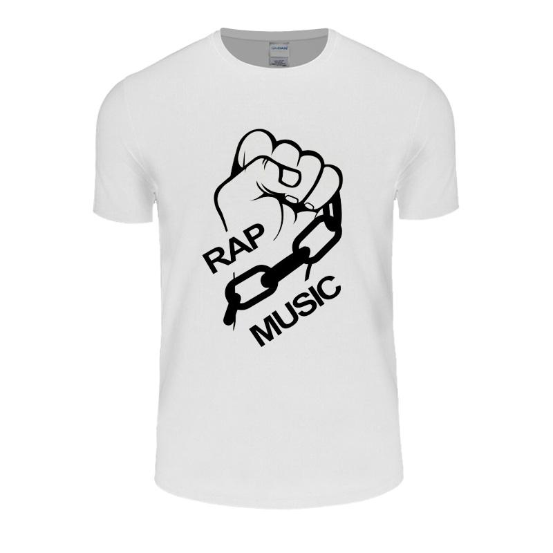 Summer RAP MUSIC Funny Design T-shirt Cotton Short Sleeves loose T Shirt Casual O Neck Tops Tees Plus Size Hip Pop Tops