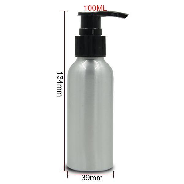 100ml Refillable Empty Aluminum Pump Bottle Shampoo Sub-bottling Sprayer Bottle Cosmetic Packaging 3 colors Sprayer 20pcs/lot HN10