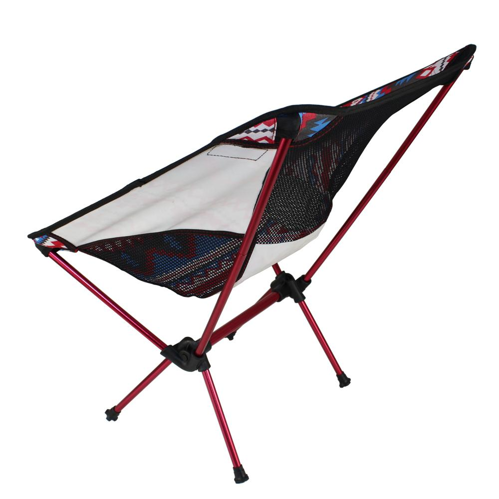 Outdoor colorful folding chair moon chair fishing director aluminum chair ultra - light portable Outdoor Camping Leisure Picnic Beach Chai