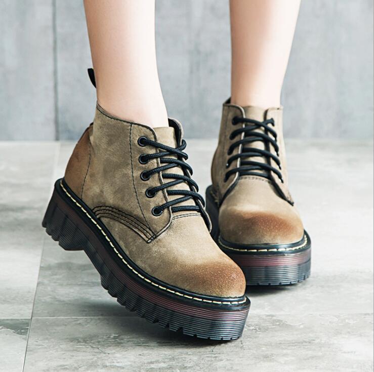 Горячие Продажи Обувь Женщины Ретро Сапоги Ручной Работы Ботильоны Плоские Сапоги Реальные Натуральная Кожа Обувь Женская Обувь Плюс Размер