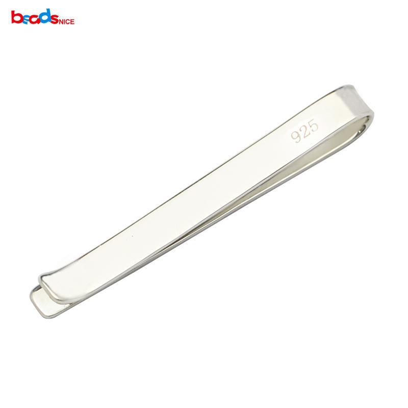 Чистый стерлингового серебра 925 пряжки для галстука, персонализированные мужские галстук бар изготовление ювелирных изделий свадебный подарок ID36515