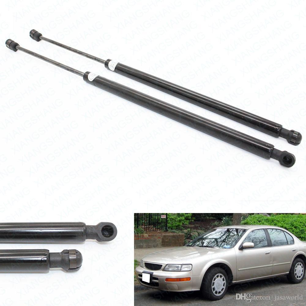 2pcs Cofano anteriore Hood gas caricato il supporto di sollevamento molle di gas per berlina Nissan Maxima SE GXE GLE Base 1995-1996 1997 1998 1999