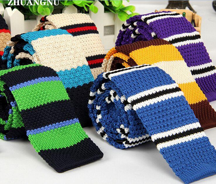 2016 Neuheiten Herren Gestreifte Polka Dot Gewebte Krawatte Gestrickte Krawatte Dünne Dünne Krawatte 29 Farben Mode Herren Neckwears