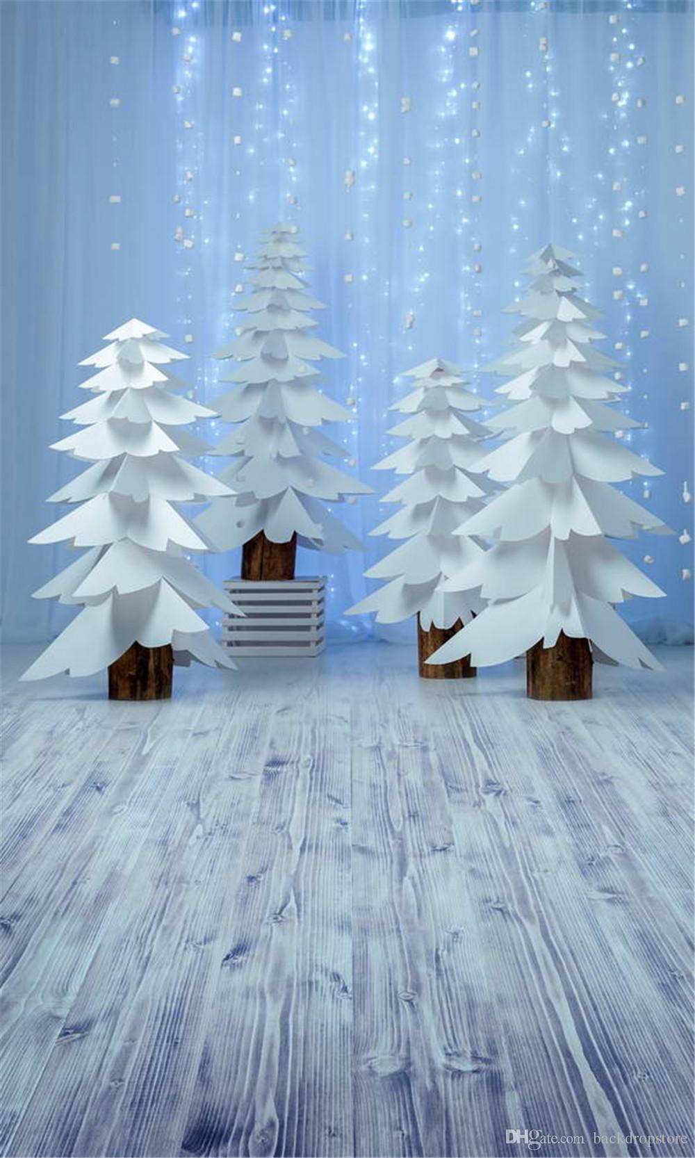 الكمبيوتر مطبوعة لينة الستار متألقة ضوء التصوير الخلفيات عيد الميلاد ورقة بيضاء قطع الأشجار ميلاد سعيد عيد الميلاد خلفية الصور ارضيات خشبية