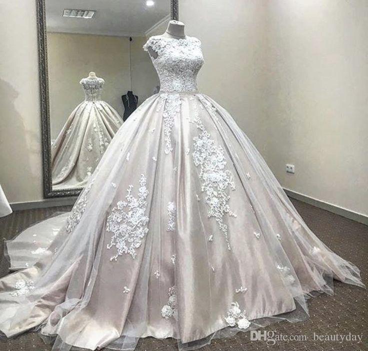 Real Image Said Mhamad 2020 Blush Wedding Dresses Arabic Dubai Bride Robes Ball Gown Vintage Wedding Dress Maternity Pregnant Bridal Gowns