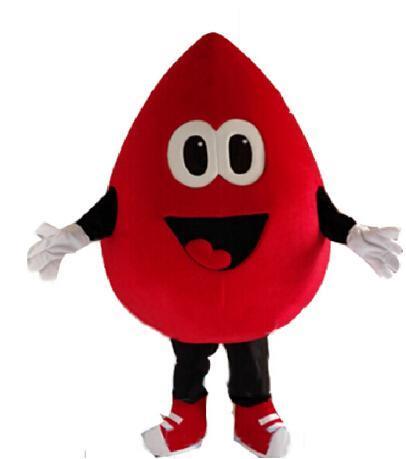 Mascotte dei corredi di anime del costume di carnevale del personaggio dei cartoni animati del costume della mascotte di goccia di sangue rosso