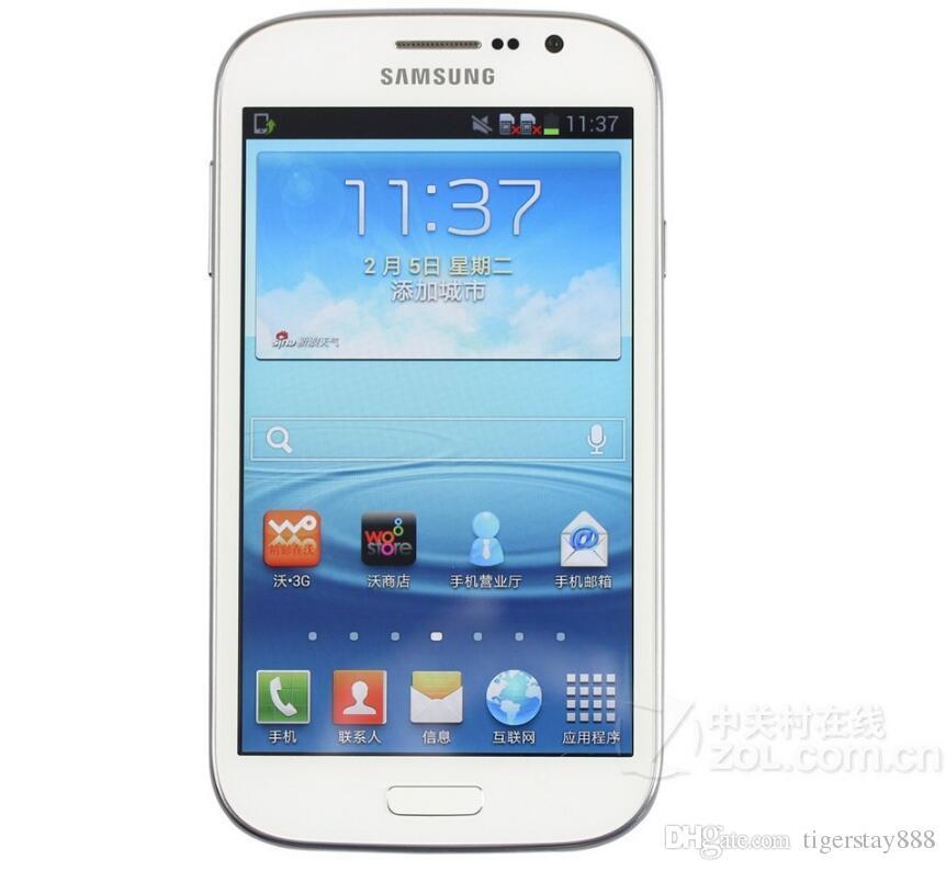 Оригинальный разблокирована Samsung Galaxy I9082 Гранд Мобильный телефон GSM 3G WIFI GPS Две сим-карты 8MP камера Восстановленное сотовый телефон