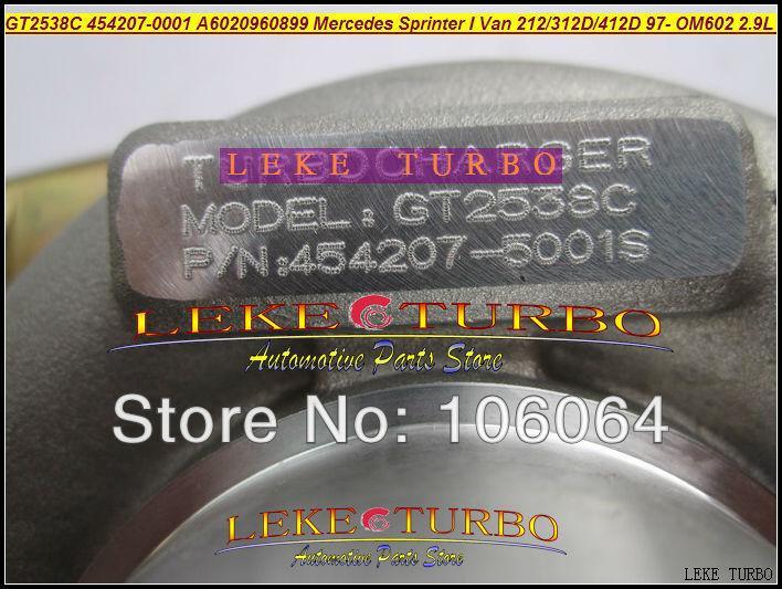 GT2538C 454207-0001 6020960899 For Mercedes-PKW Sprinter I Van 212D 312D 412D 2.9L OM611 141HP 2000-2006 turbocharger - (3)
