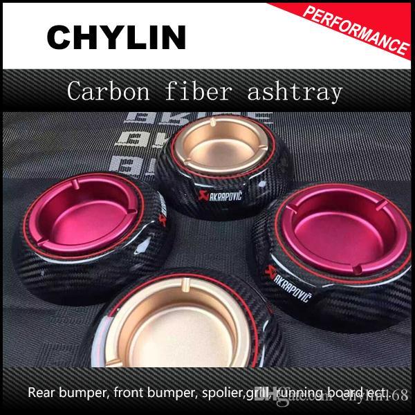 Ak Auto Aschenbecher Carbon Fiber Aluminiumlegierung Gold Schwarz Aschenbecher Tabak Jar Tray Glossy Finish Für jedes Auto