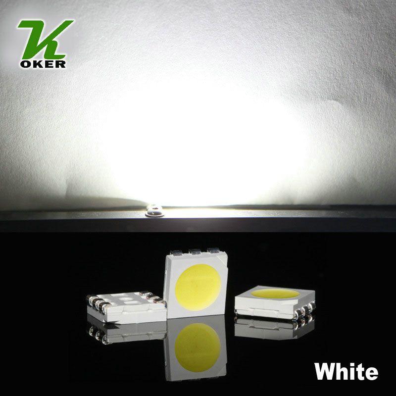 1500PCS 16-19LM 백색 PLCC-6 5050 SMD 3-CHIPS LED 램프 다이오드 Ultra Bright SMD 5050 SMD LED 무료 배송