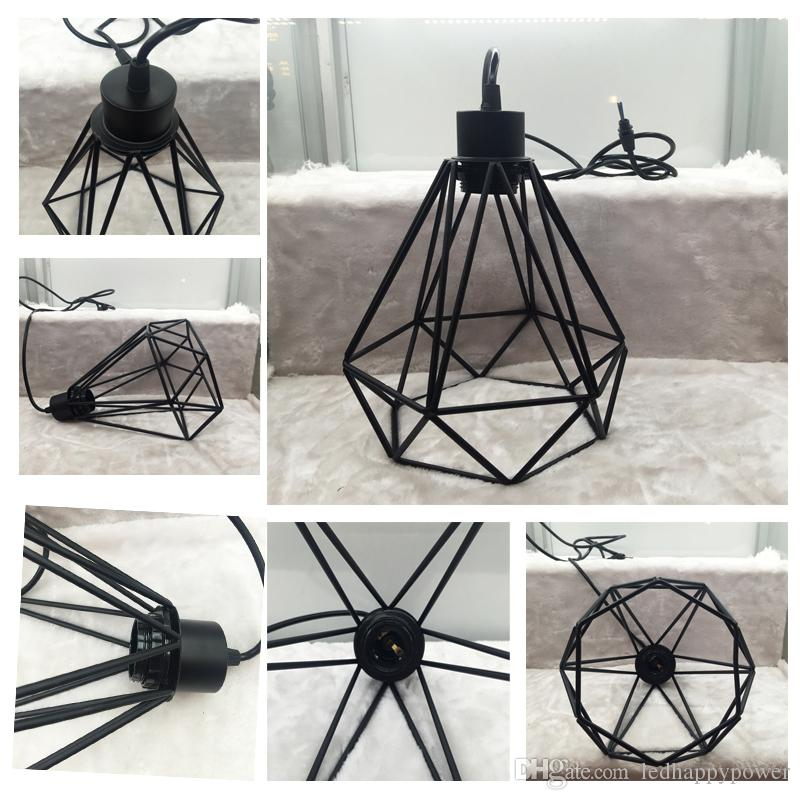2018 industrial loft style multicolor edison modern metal wire frame industrial loft style multicolor edison modern metal wire frame ceiling pendant hanging light lamp lampshade cage greentooth Images