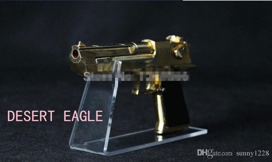 Бесплатная Доставка 5 ШТ. Большой размер Прозрачный акриловый пистолет держатель пистолета стенд дисплей обувь стенд держатель пистолета стойки рабочего