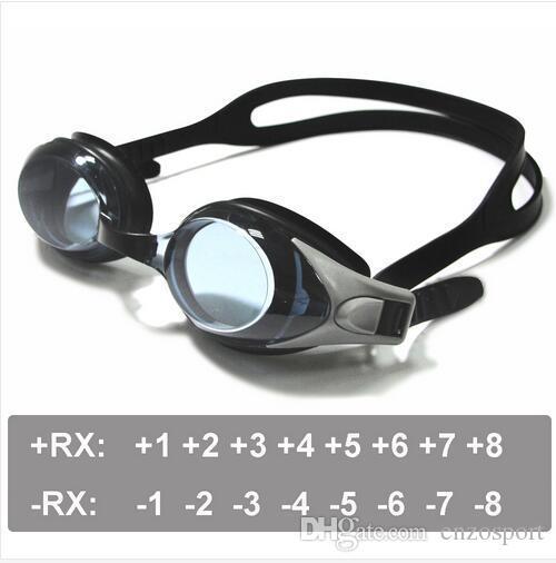 بصري نظارات السباحة مد البصر 1،0-8،0 بعيد النظر، قصر النظر -1.0 إلى -8.0، القوة الكبار الأطفال مختلفة لكل عين