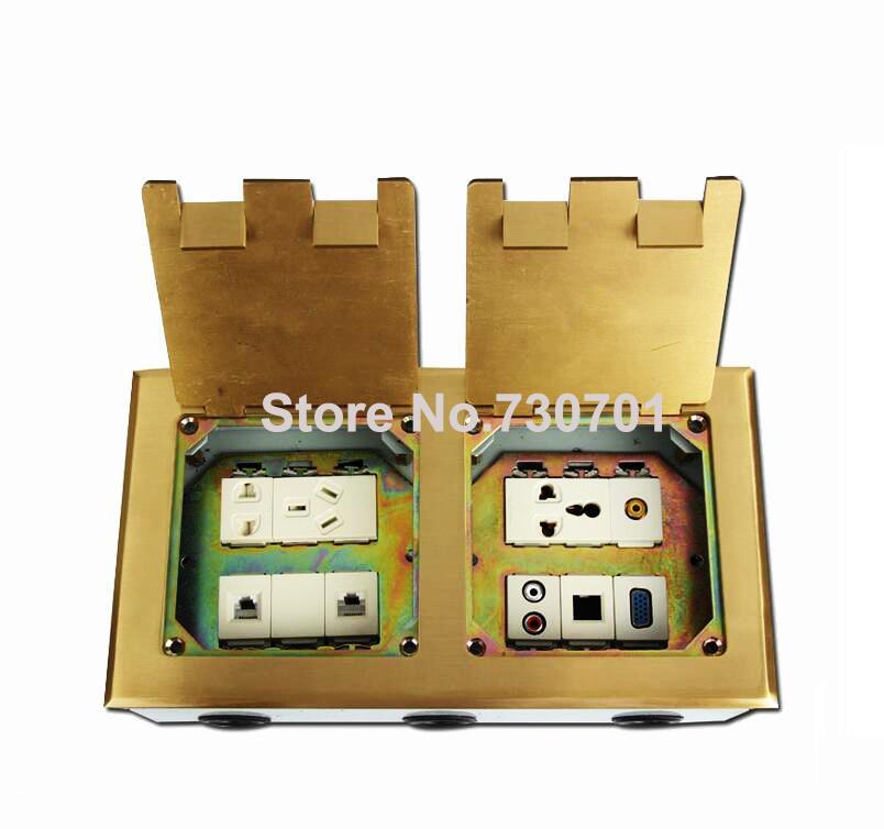 VGA, universal power, TEL, datenboden boden sockel silber goldene farbe aluminium kupfer material drop shipping