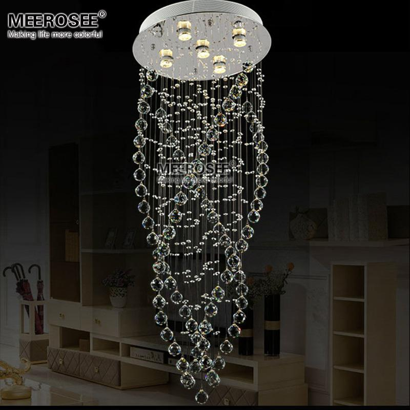 Modern Clear Crystal chandelier light fixture Flush Mounted Crystal lamp lustre lamparas Living room Dining room Hotel Project