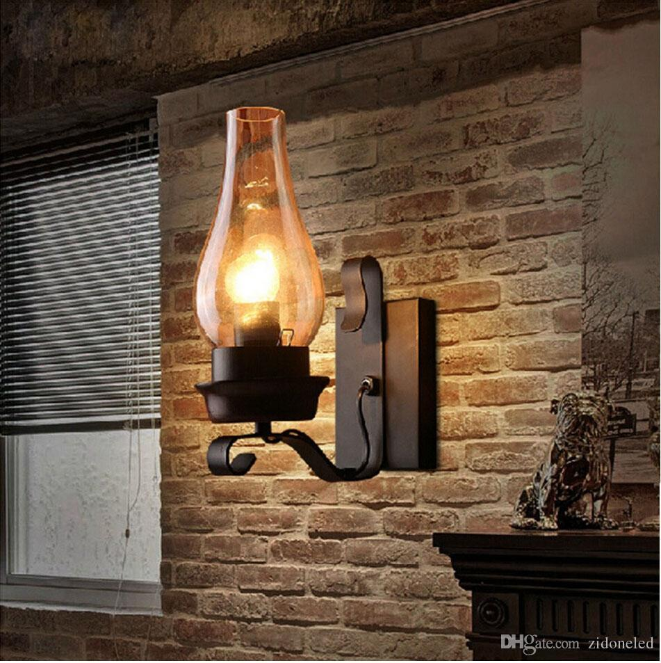 RH industrial wall sconces vintage led wall lighting vanity lights e27 wall light bar cafe E27 lamp holder lighting fixture