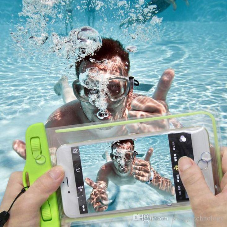 아이폰 11 XR XS 삼성 은하 S8 HUWWEI 스포츠 가방 방수 소프트 명확한 PVC 전화 파우치 가방 케이스