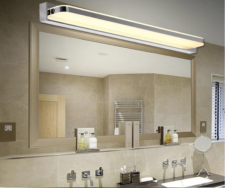 2016 новые поступления 7-15 Вт Ванная Комната Светодиодный Зеркальный Свет SMD5050 Мини Стиль водонепроницаемый светодиодный зеркало передний свет Настенный светильник из нержавеющей стали
