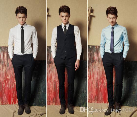 2016 Hot Fashion Men's Tie Narrow Version 7cm Polyester Flat type Men Necktie Gift Christian Wedding Accessorise have 38 colors