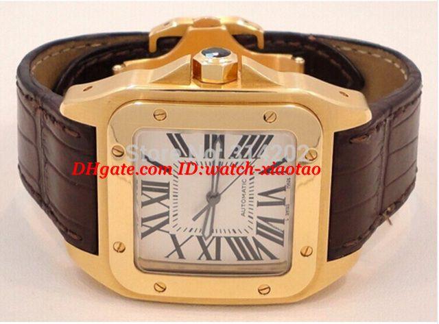 Dostawca fabryki Luksusowe zegarki Wristwatch Sapphire 2657 W20071Y1 100 Automatyczna brązowa bransoletka skórzana Męskie zegarki męskie
