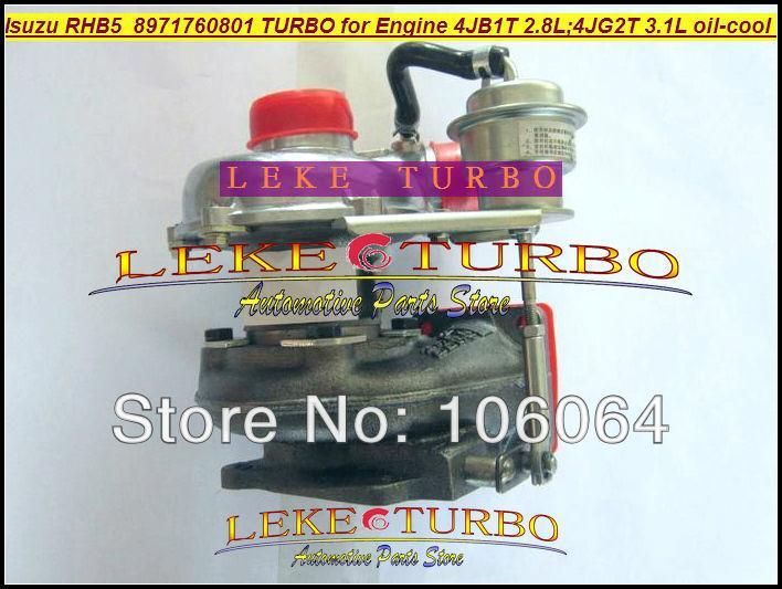 Wholesale New RHB5 VA190013 VICB 8971760801 turbo for ISUZU Engine 4JB1T 2.8L 4JG2T 3.1L oil cooled turbocharger (5)