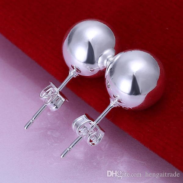 10 Çift / LotFree nakliye Toptan 925 Ayar Gümüş Kaplama Moda kadın Küpe Takı Hediyeler Için E074