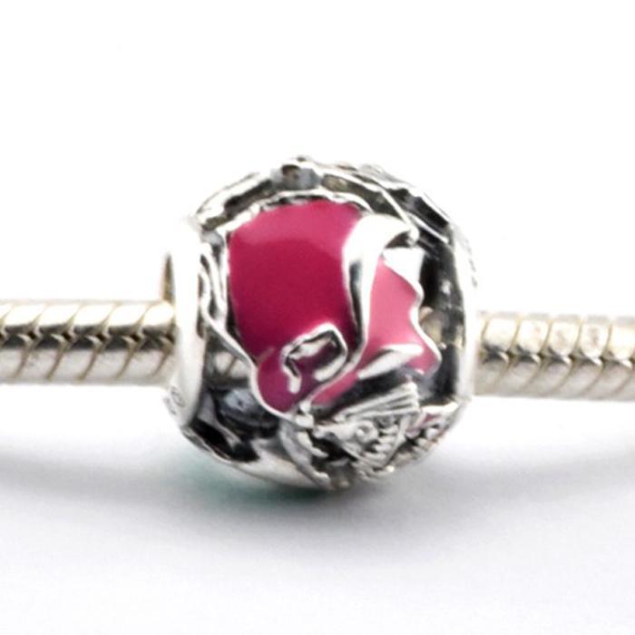 Aurora fada madrinhas 100% 925 grânulos de prata esterlina fit pandora encantos pulseira autêntica diy moda jóias