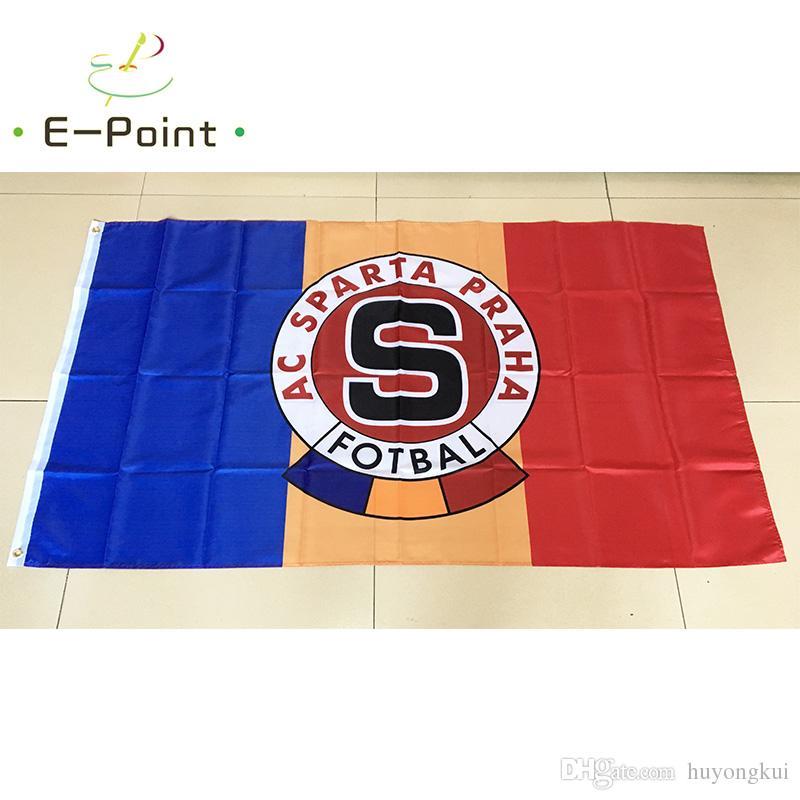 جمهورية التشيك ac سبارتا براغ نوع b 3 * 5ft (90 سنتيمتر * 150 سنتيمتر) البوليستر العلم راية الديكور تحلق الرئيسية حديقة العلم هدايا الأعياد